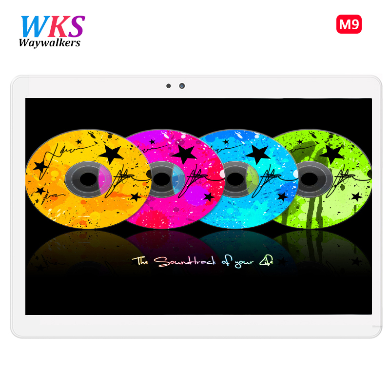 Newest 10 inch Waywalkers M9 tablet PC Android 7.0 Octa Core 4GB RAM 64GB ROM Dual SIM Card Bluetooth GPS Tablets 1920*1200 IPS 2017 newest 4g lte 10 inch tablet pc android 6 0 octa core 4gb ram 64gb rom dual sim 5mp gps ips bluetooth smart tablets mt8752