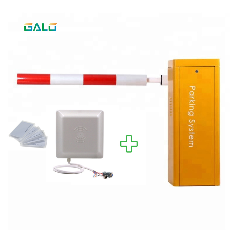 Car Parking And Toll Access Control Automatic Articulated DC Parking Boom Barrier Gate With Long Range Rfid Reader Parking Barri