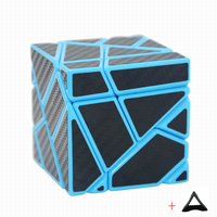 3 3 Ghost Cube Blue Assembled Without Stickering Silver Sticker