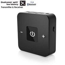 Портативный Bluetooth 5,0 CSR8670 Aptx низкой задержкой 3,5 мм RCA SPDIF оптический приемник и передатчик беспроводной аудио Музыка ТВ адаптер