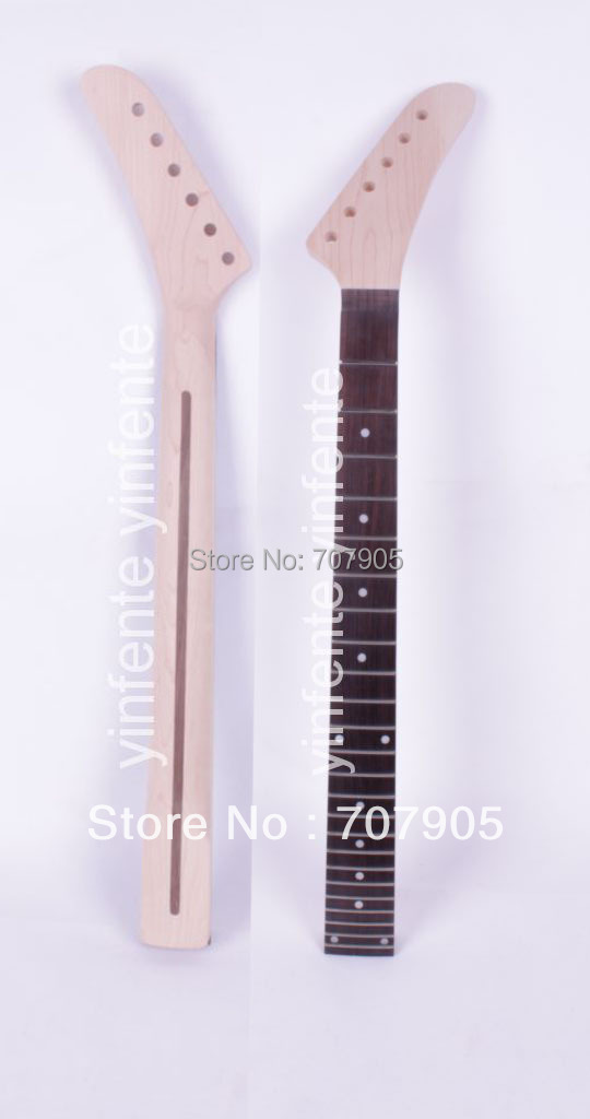 New Unfinished electric guitar neck High Quality Truss Rod 24 fret 25.5 Free shipping Dropshipping Wholesale new electric guitar neck maple 24 fret 25 5 truss rod unfinished no frets nice