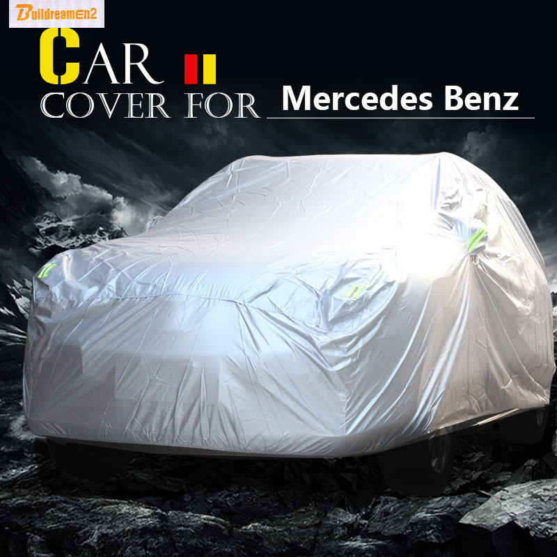 Buildreamen2 Car Cover SUV Sun Rain Snow Scratch Resistant Dust Cover Waterproof For Mercedes Benz GLS