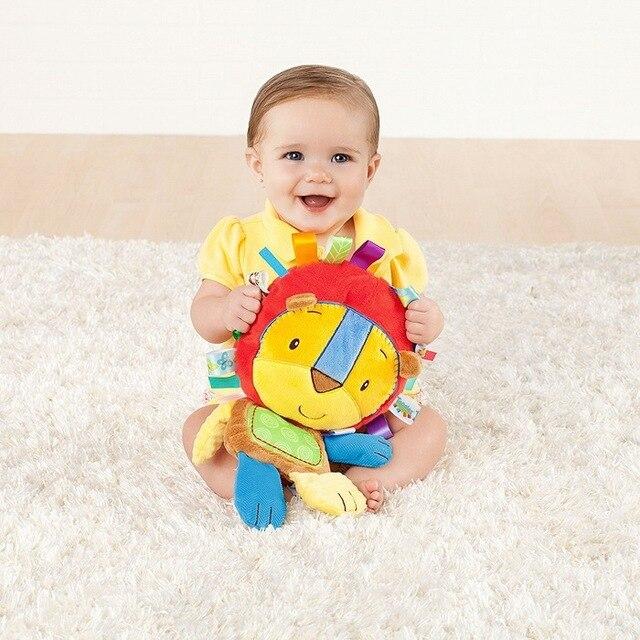 8 stylów zabawki grzechotki dla dzieci pacyfikacja lalki pluszowe grzechotki dla dzieci zabawki dzwonki ręczne dla zwierząt noworodek słoń/małpa/lew/królik
