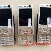 Отремонтированный NOKIA N95 мобильный телефон разблокированный Английский Арабский Русский клавиатура мобильный телефон