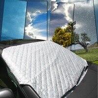 Wysokiej Jakości Pokrywa Uniwersalna Parasolka Auto SUV Przednie Szyby Przedniej Szyby Samochodu Śnieg Mróz Sun Shade 4 Sezony Ochrony