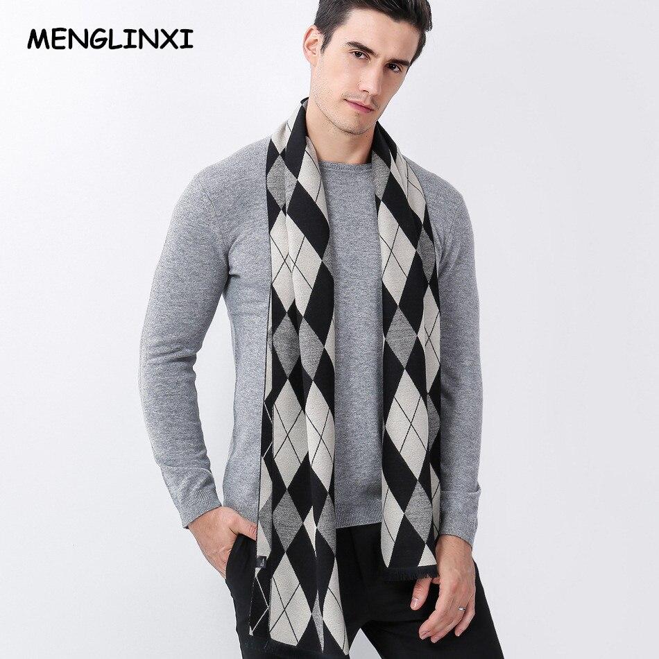 Cashmere Plaid Scarf Man Winter Brand Scarf Men Fashion Designer Luxury Shawl Bussiness Casual Scarves Male Warm Scarf