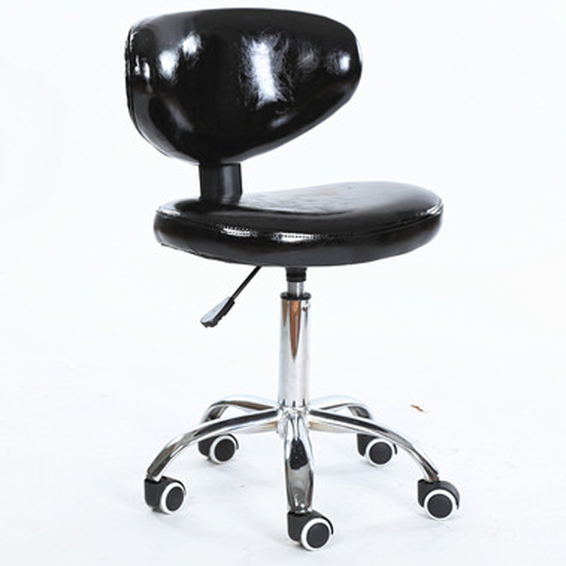 Simple Style Multi-function Computer Chair Lifted PU Surface Office Staff Chair with Backrest Rotated Household Study Chair simple style lifted office chair staff meeting stool multi function household rotated swivel chair leisure gaming computer chair