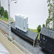 2pcs/lot HO 1/87 traction substation transformer Railway large-size transport parts Train sand table scene Resin model(China)