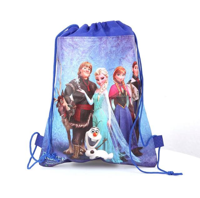 eb2a77b3e3 Free shipping hot sale fairy tail frozen drawstring bags backpacks  children s school bags kids  shopping bags present