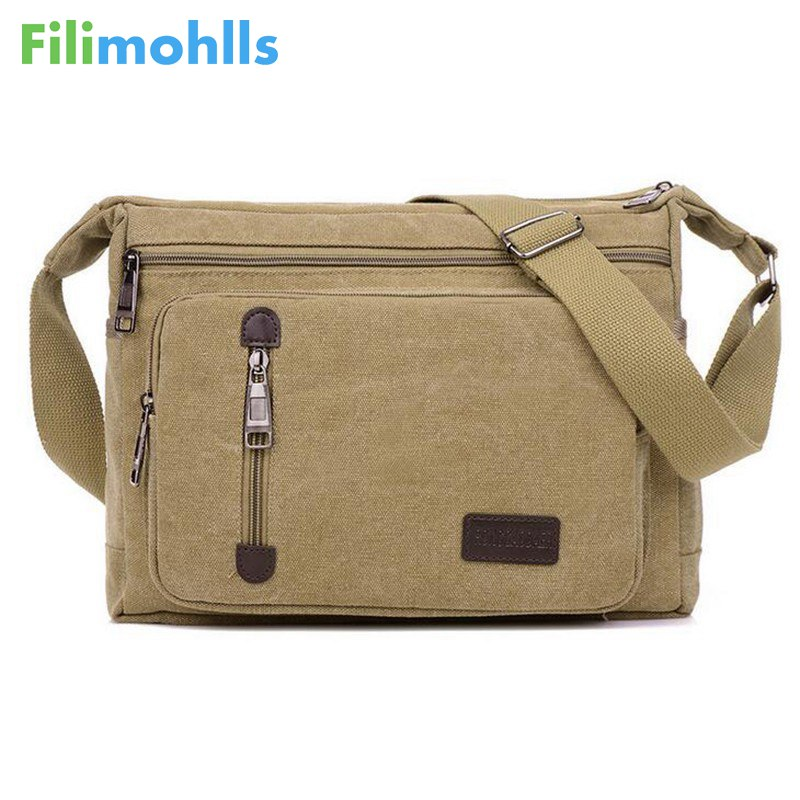 Men Bags Vinatge Canvas Messenger Bags 2018 Designer Brand Men's Fashion Crossbody Shoulder Bag Male Casual Travel Bag S951 aerlis brand men handbag canvas pu leather satchel messenger sling bag versatile male casual crossbody shoulder school bags 4390
