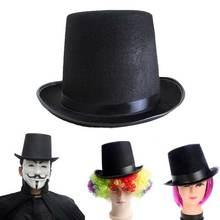 de3761fedb9 New black magic hat British wind felt gentleman hat holiday party  performance jazz hat Halloween props