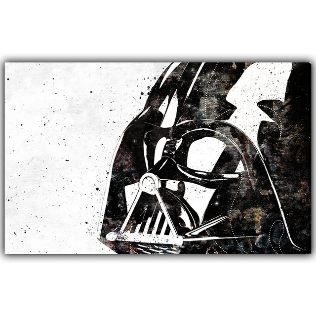 Darth Vad Star Wars 7 The Force Awakens Art Silk Fabric Print Posters 12×18 24×36 inch Movie Picture Home Decoration Wall DY1359