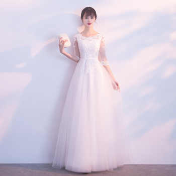 White Lace Women Cheongsam Asian Bride Wedding Evening Party Dresses Hollow Out O-Neck Qipao Prom Mesh Dress Gown Size XS-XXL - DISCOUNT ITEM  32% OFF All Category