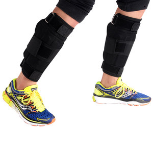Image 4 - 新しい調節可能な足首重量サポートブレースストラップ肥厚脚筋力トレーニングショックガードジムフィットネスギア1 6キロのみストラップ