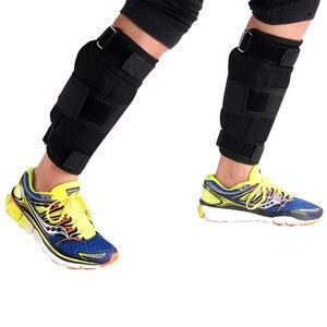 Image 4 - Nowa regulowana waga kostki wsparcie pasek ochronny pogrubienie nogi trening siłowy Shock Guard siłownia Gear 1 6kg tylko pasek