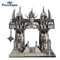 Imagem Reino Metal 3D Puzzle Modelo de Construção Do Portal Escuro PJ-158 DIY 3D Jigsaw Brinquedos de Corte A Laser