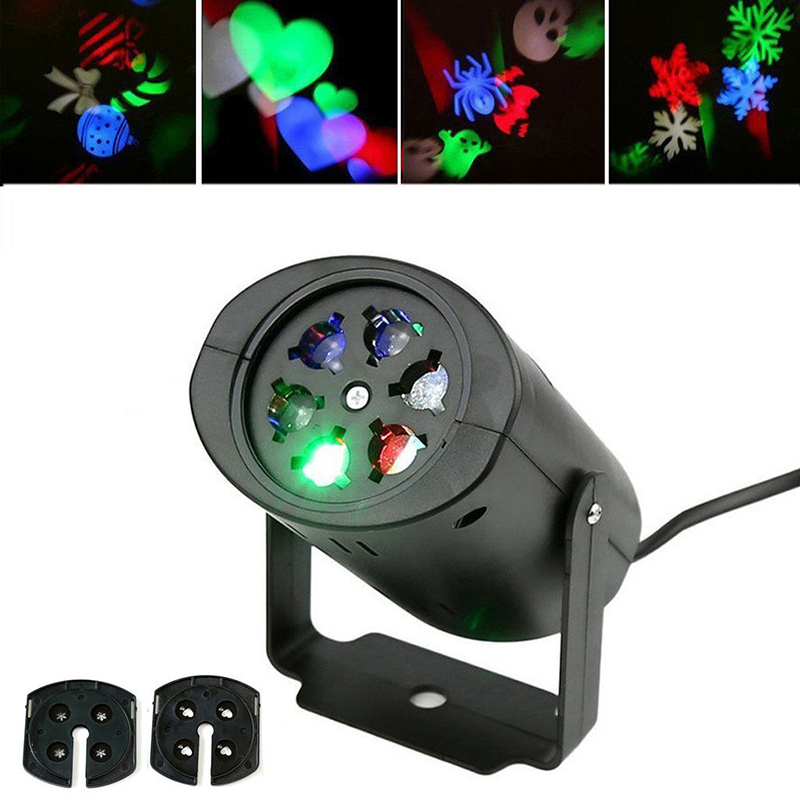 laser projector activated moving dynamic snowflake heart shape stage lighting effect lamp light music christmas ktv party lights in stage lighting effect