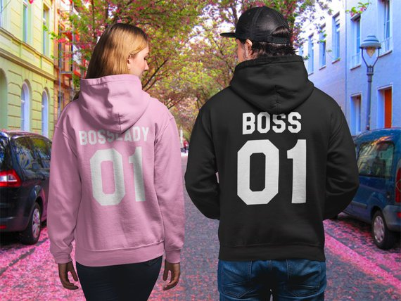 Us 13 9 35 Off Sugarbaby Boss Boss Lady Hoodies Couple Hoodies Matching Couple Clothing Christmas Gift Boss Hoodie Boss Lady 01 Fashion Tops In