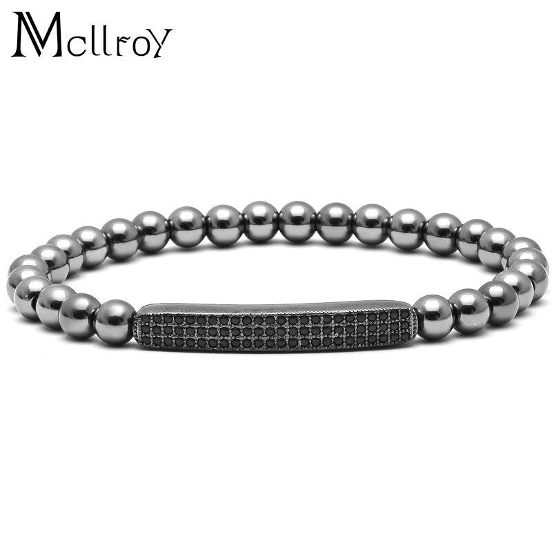 Prix pour Mcilroy Bars Zircon Nouveau style Hommes fille marque De Mode Bracelets Micro inlay CZ Pavent des perles Bracelets Hommes Femme Zircons Bar bracelet