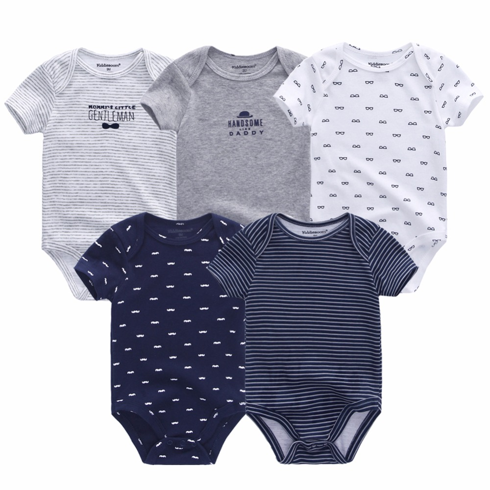 5PCS LOT Unisex Top Quality Baby Rompers Short Sleeve Cottom O Neck 0 12M Novel Newborn 5PCS/LOT Unisex Top Quality Baby Rompers Short Sleeve Cottom O-Neck 0-12M Novel Newborn Boys&Girls Roupas de bebe Baby Clothes