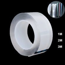 1/2/3m Strong Acrylic Tape Nano Magic Tape Super Fix Transparent Reusable Waterproof Double Sided Adhesive Tapes 2mm Thick цены онлайн