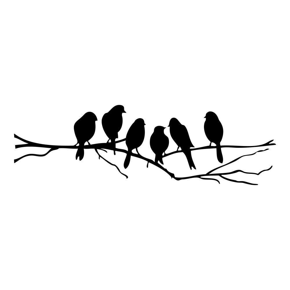 Sticker Oiseaux Sur Un Fil us $2.71 14% off|practical birds on a wire wall stickers birds wall  stickers quote vinyl wall sticker sitting room sofa wall bedroom art  decora|vinyl