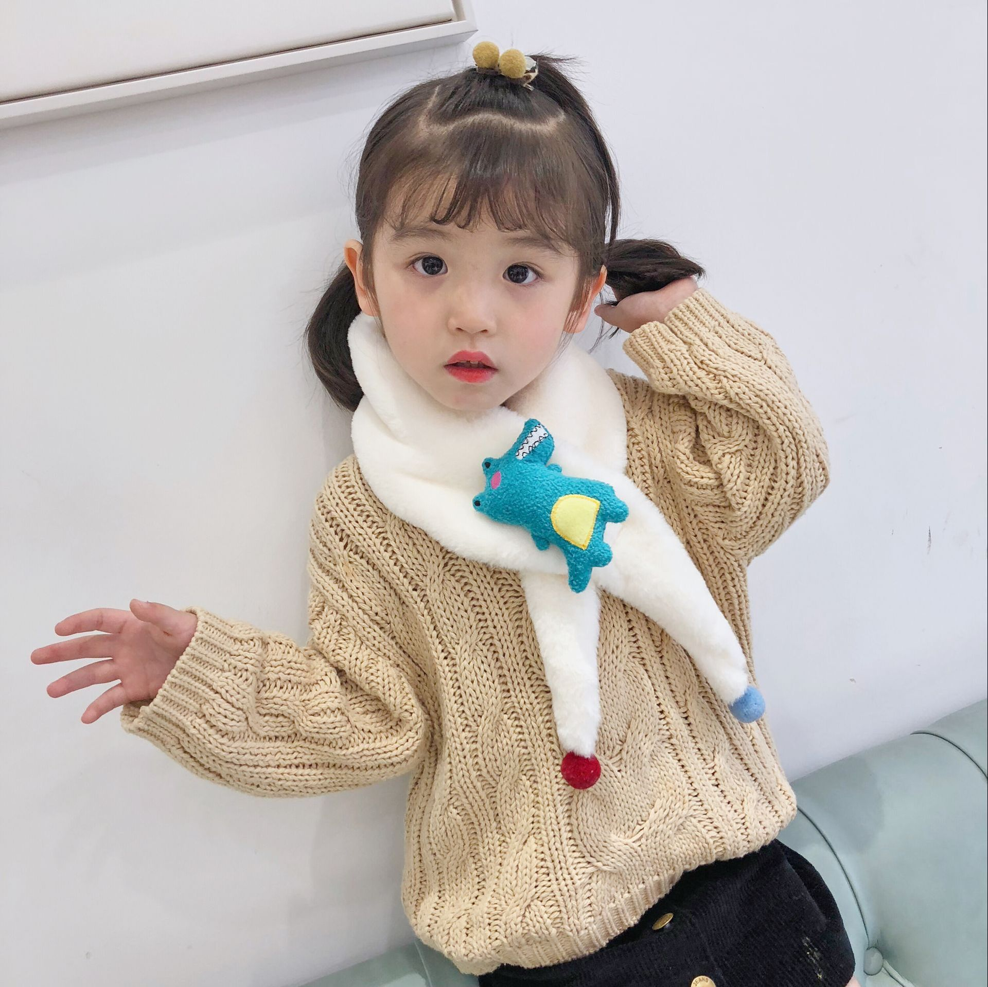 Girl's Scarves 1pc Baby Cotton Scarf Fashion Autumn Winter Cute Baby Warm Boys Girls Children Stars Collar Scarf Children Neck Scarves Beautiful And Charming Girl's Accessories