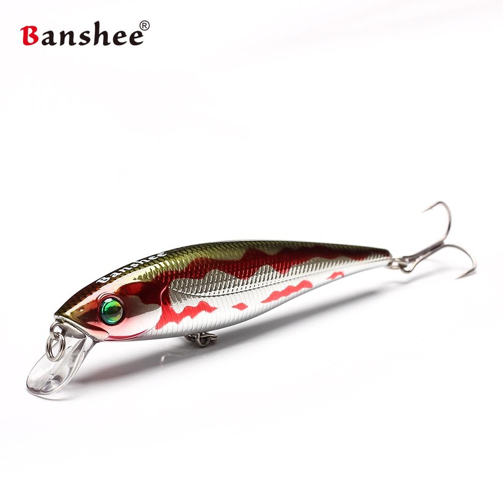 Banshee100mm 16g frio vara jr chocalho som mnw40 wobbler duro isca artificial baixo flutuante isca de pesca jerkbaits minnows