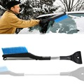 2-in-1 Snow Removal Kit for Cars and Trucks, Aluminum Alloy Telescopic with Ice Pick and Brush vehicle Winter Snow Ice Scraper