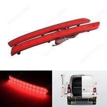 Red Lens LED Rear Bumper Reflector Tail Stop Brake Light For VW T5 Transporter (Fits: VW 2012) (CA330)