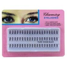 Individual False Eyelashes extension natural false mink lashes eyelashes cilios fake eye lashes pestanas postizas 4 boxs=240pcs недорого