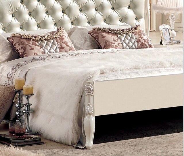 Cama de cuero, camas de cuero moderno con cristal, cama de cuero ...