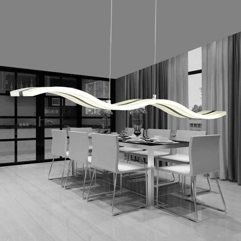 Modern Dining Room Pendant Lighting stunning pendant lighting dining room dining room lights modern dining room lighting ideas pictures Aliexpresscom Buy S Shape Led Luxury Acrylic Metal Modern Pendant Lights Dining Room Bedroom Study Corridor Acrylic Pendant Lamp 85 265v From Reliable