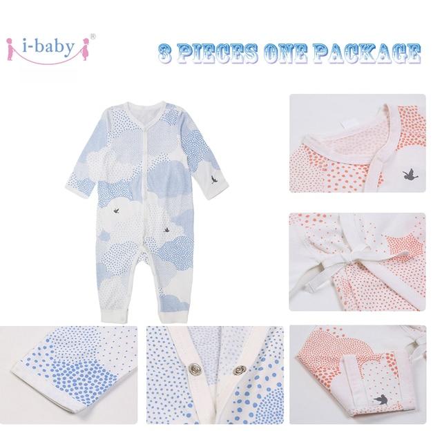 3pcs 2018 New Baby Clothes Unisex Pima Cotton Boys Girls Long Sleeve