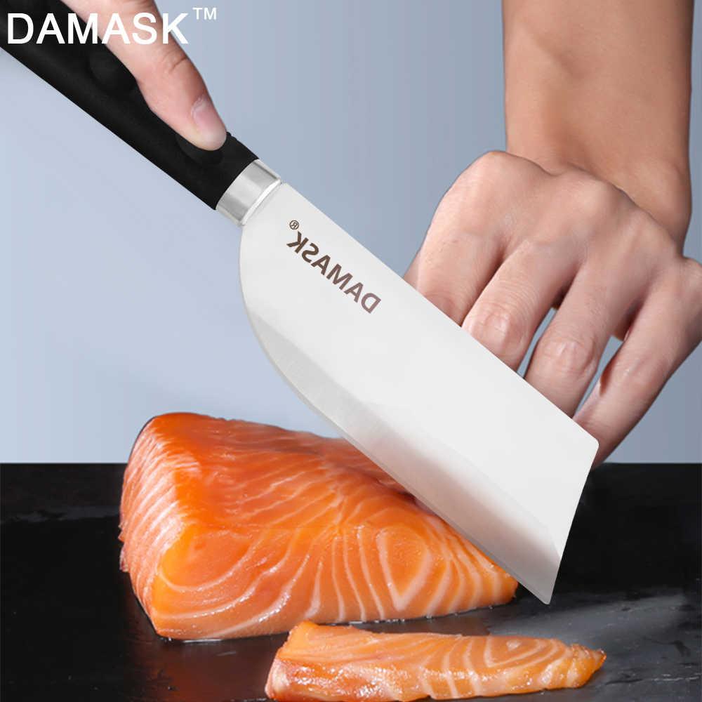 Adamaszku ryb ze stali nierdzewnej nóż do trybowania nóż do filetowania do zabijania ryb profesjonalnego szefa kuchni łososia Cleaver ostre narzędzia kuchenne