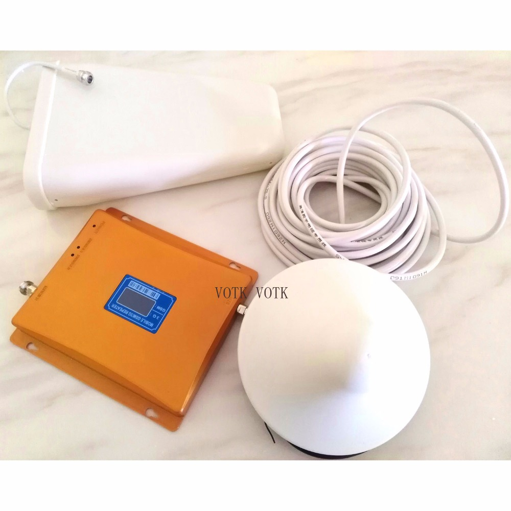 VOTK GSM 3G Dual Band SIGNAL BOOSTER MOBILE GSM SIGNAL REPEATER 900 2100 SIGNAL AMPLIFIER WCDMA 3G SIGNAL BOOSTER WITH ANTENNA