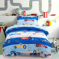 Bedding Set 3pcs Printed Cars Kids Cartoon 100 Cotton Duvet Cover Set Bedsheet Pillowcase For Twin