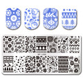 BORN PRETTY Xmas Nail Stamping Template 12*6cm Rectangle Christmas Theme Manicure Nail Art Stamping Plate BP-L056