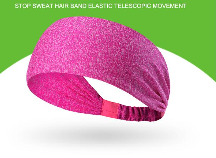 18Colors Solid Sports Yoga Hair Band Unisex Stretch Headband Quick Drying Wrap Gym Fitne ...