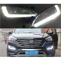 LED Daytime Running Light For Hyundai Santa Fe IX45 2013 2014 2015 Car Accessories Waterproof 12V DRL Fog Lamp Decoration drl