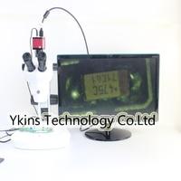 8X 50X трек Stand Стерео Увеличить парфокальное тринокулярный микроскоп с дно светодиодные фонари + 1080 P HDMI камера для SMT BGA ремонт печатной платы