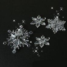 10 шт./упак. рождественские украшения для дома украшения Снежинка, кристаллый акриловый DIY бусины Шторы декоративные ремесла домашнего декора Вечерние