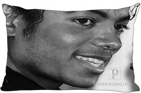 Best Custom Pillow Case Michael Jackson@01 Rectangle Pillowcases zipper 35x45cm (One Side Print) @180117-111