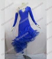 Sexy Bule new Latin dance dress,ballroom dress Rumba Jive Chacha Ballroom Latin Dance Dress Girls Women dancing Dresses
