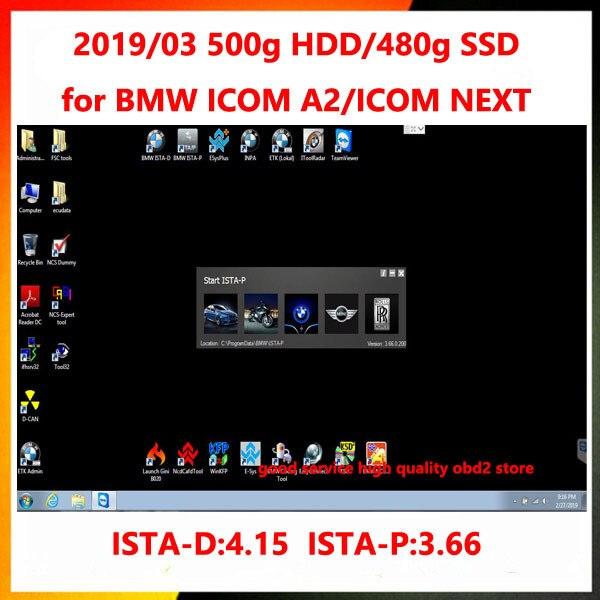2019.05 para BMW ICOM/ICOM A2/ICOM A3/PRÓXIMA Software ICOM HDD/SSD Para Win7 Sistema com Os Engenheiros da ESYS Programação Fit a maioria dos Laptops