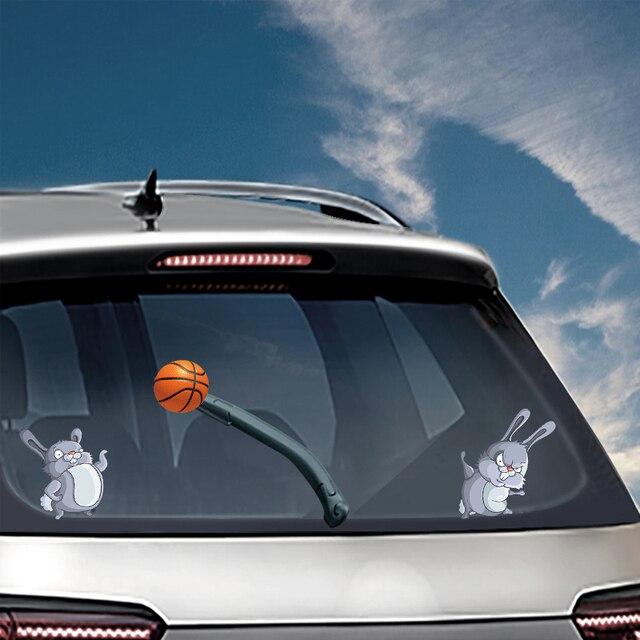 Rear Windshield Wiper >> Easter Bunny Playing Balls Waving Wiper Decals Pvc Rear Window Wiper