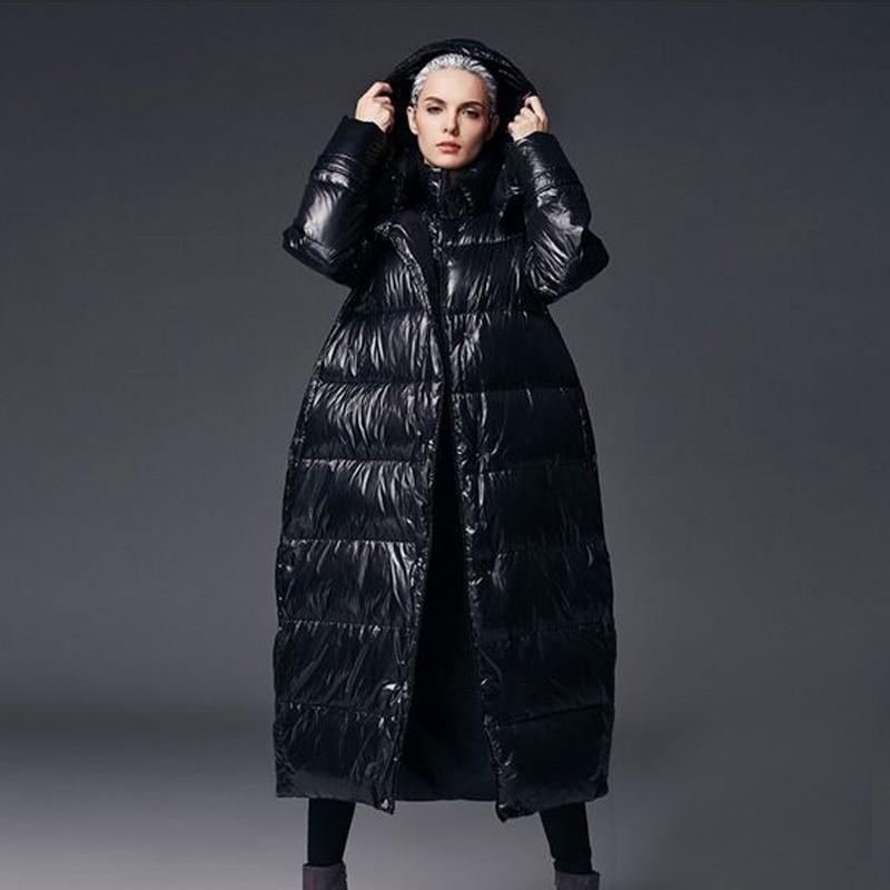 Winter   Coat   Women 2018 Winter New Loose   Coat   Winter Jacket Women White Duck   Down   Jacket Thick Warm Long Parkas Plus Size 5XL