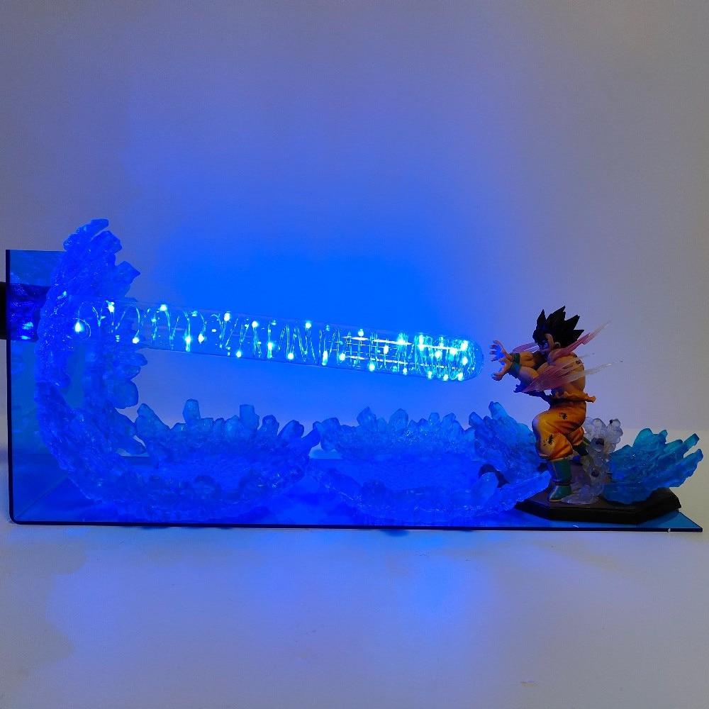 Dragon Ball Lampada Son Goku Kamehameha Scena Lampara Dragon Ball Z Goku Ha Condotto La Luce di Notte Della Lampadina Lampada Da Tavolo Son Goku luminaria Giocattoli