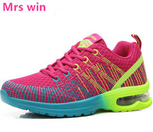 2017 new air running shoes women Cushioning athletic sneakers walking flat lady sport shoes zapatos de