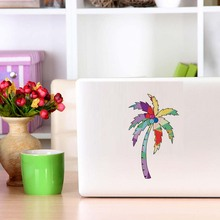 Colorful Tree Silhouette Removable Vinyl Computer Laptops Decoration Waterproof Adhesives Cars Art Decals  Wallpaper Home Decor